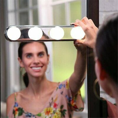 Portable LED Mirror Light Travel Makeup Lamp Powerful Suction Cups Easy Install