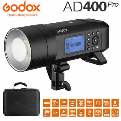 Godox AD400Pro 400Ws 2.4G TTL HSS Studio Outdoor Flash Strobe Battery Monolight