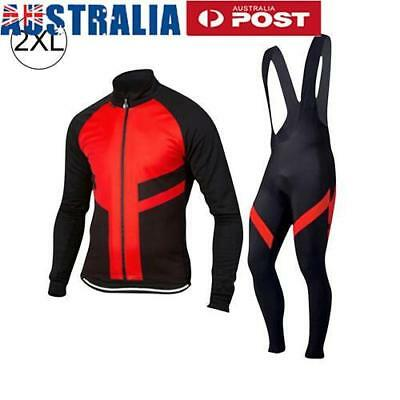 Men'S Cycling Kit Suit Long Sleeve Riding Biking Jersey Winter  Outdoor Sports