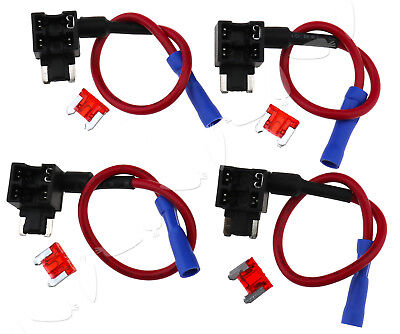 Micro Blade Low Profile Mini APS ATT Fuse Adapter ADD A CIRCUIT + 4 x 10A Fuses