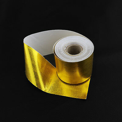 Car 850℉ Continuous Gold Reflective Heat Shield Self-Adhesive Wrap Tape