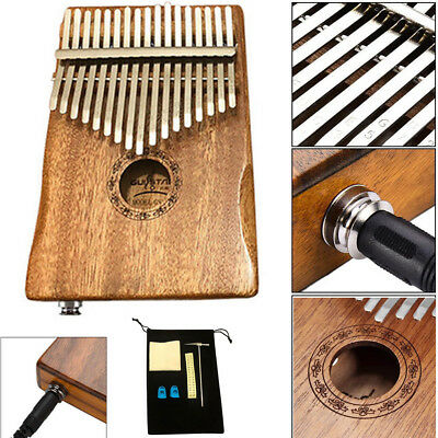 Kalimba 17 Keys Acacia(KOA) Thumb Piano Built-in pickup + Bag Set