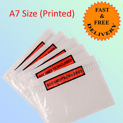 1000 A7 Document Enclosure Envelope 123mm x 110mm PRINTED Quick Dispatch CHEAPER