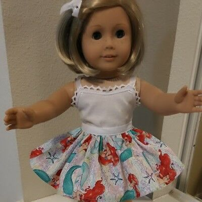 Fits 18 inch American Girl Doll Clothes ~ Skirt ONLY  DISNEY PRINCESS ARIEL 4842