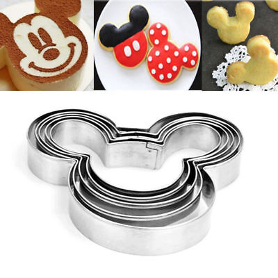 5Pcs Mickey Mouse Biscuit Cutter Mould Cake Cookies Pastry Mold DIY Baking Tool