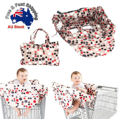 Portable Baby Shopping Trolley Cart Seat Cushion High Chair Cover Protector Red