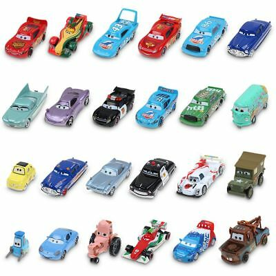 1:55 Disney Pixar Metal Diecast Cars1-3 King Mcqueen Frank Mater Sally Kids Toys