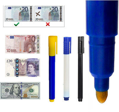 10PC Counterfeit Forged Fake Marker Bank Note Checker Money Tester Pens*Detector