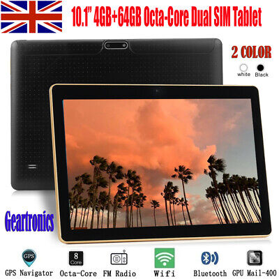 "10.1"" Tablet PC Android 6.0 Octa-Core 4G+64G Dual SIM &Camera Phablet Phone Wifi"