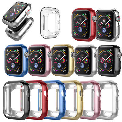 For Apple Watch 4/3/2/1 PC TPU Plating Bumper Protector Case Cover 38/40/42/44mm
