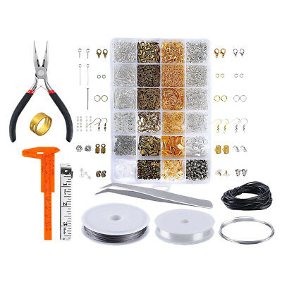 Jewelry Making Supplies Kit Findings Necklace Repair Pliers for DIY Crafting