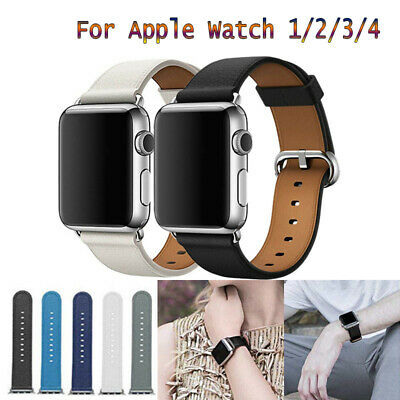 For Apple Watch All Series iWatch 44-38mm Genuine Leather Wrist Band Strap AU