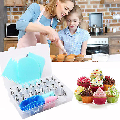 32PC Russian Icing Piping Nozzles Set Pastry DIY Cake Decorating Baking Tool Kit