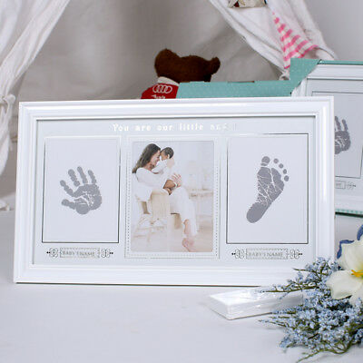Premium Babyprints Newborn Baby Handprint/footprint Photo Frame Kit Wall Frame