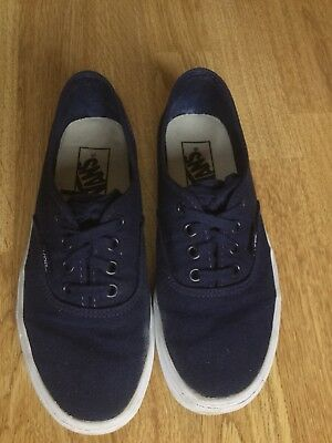 60e62a717a NAVY BLUE VANS Trainers Shoes Size 6 Gift Cheap Shoes Style - £4.96 ...