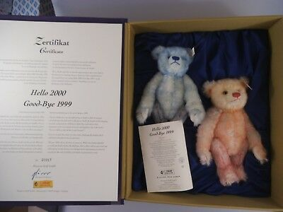 Steiff Teddy Set Hello 2000 Goodbye 1999 in OVP (2422)