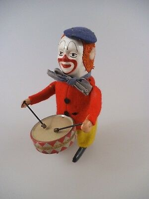 Schuco Tanzfigur Clown mit Trommel Made in Germany (2410)