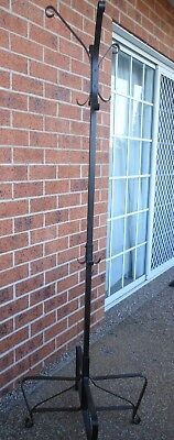 Ikea Portis Dark Brown To Black Metal Coat And Hat Stand Rack~ As New Condition
