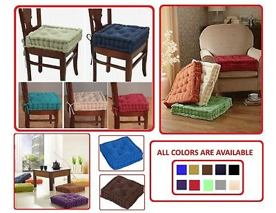 10cm Chunky Adult Booster Cushion Thick Square Seat Pad Armchair Garden Office