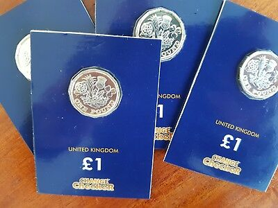 2017 £1 One Pound 12 Sided Coin sealed bunc Royal Mint brilliant uncirculated