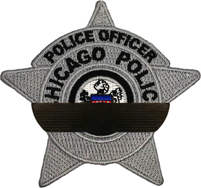Chicago Police Mourning Band Pin