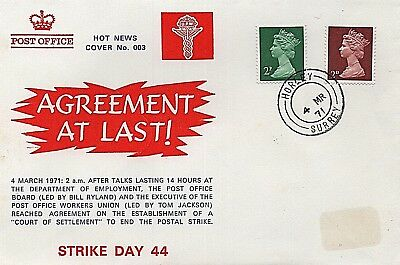 4th March 1971 'Agreement to end Post Office strike' commemorative cover