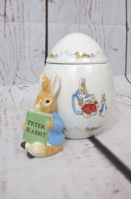PETER RABBIT Cookie Jar Canister With Lib  Beatrix Potter Frenderick Warne 2008