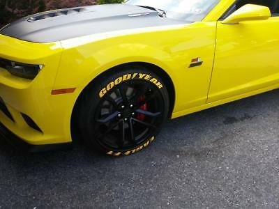 goodyear eagle f1 yellow permanent tire lettering stickers 14 22 wheels decal