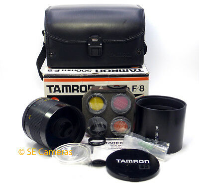 Tamron Sp Adaptall 500Mm F8 Compact Reflex Mirror Lens 55Bb *near Mint*