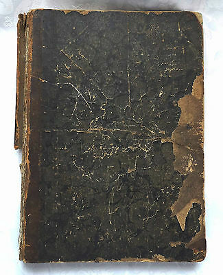 BOOK Antique 1862 Danish For the Poor and the Rich Man Signed Hand Inscription