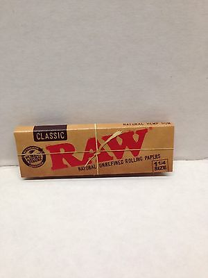 4Pks Raw 100%  Natural Unrefined Classic1 1/4 Rolling Papers
