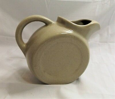 Vintage H F Coors China Pottery Stoneware Tilted Disc Pitcher  c.1930-50's, Nice