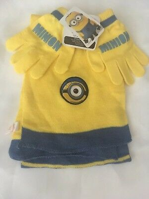 Minion Scarf And Gloves Set NEW Tags Despicable Me Winter Gift
