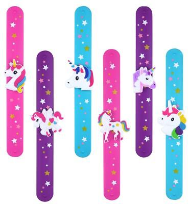 Unicorn Snap Slap Bracelet Wrap Silicone Wristband Girls Party Bag Filler Toy