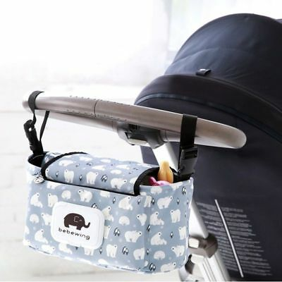 Stroller Hanging Storage Bag Travel Baby Basket Diapers Accessory Organizer New