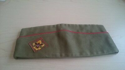 Vintage 1950's or 60's Boy Scouts of America Garrison Hat Official Medium Olive.