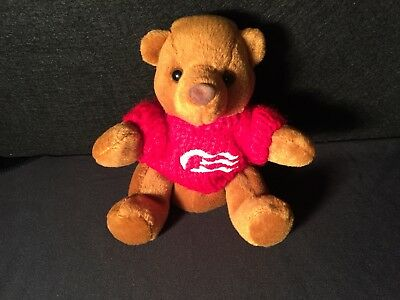 "Adorable Plush Princess Cruises Promotional Teddy Bear 6.5"" Knitted Sweater LOGO"
