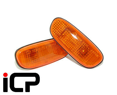 Genuine Original Orange Side Repeaters Indicators Fits: Subaru Impreza 92-00