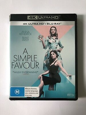 A Simple Favour (4K UHD & Blu Ray) Brand NEW & Sealed Region B Rated M 🍿