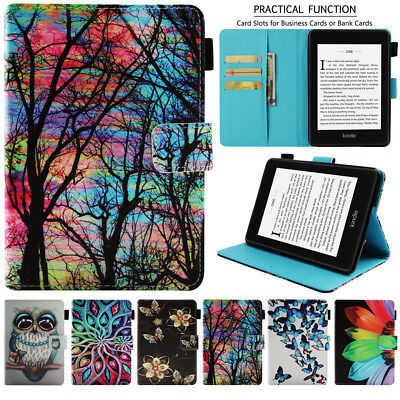 For Amazon Kindle Paperwhite 4 3 2 1 Premium Leather Stand Flip Smart Case Cover