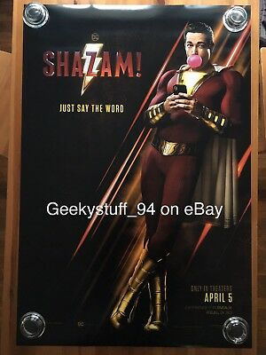 Shazam DS Theatrical Movie Poster 27x40
