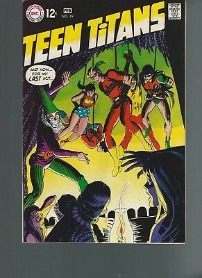 Teen Titans #19 (Jan-Feb 1969, DC) VF 8.5 Speedy Regular Teen Titan Member