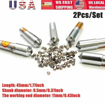 2Pcs/Set 11mm Grinding Disc Wheel Natural Diamond Dresser Dressing Pen Tool