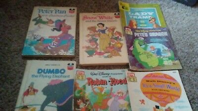 Lot of 7 Vintage  Disney's Wonderful World Of Reading and Read Along Books