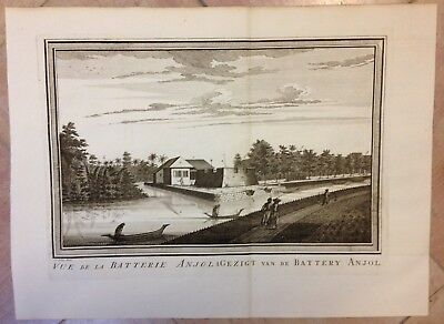 Java Jakarta Bastion Anjol 1750 By Bellin - Van Schley Antique Engraved View
