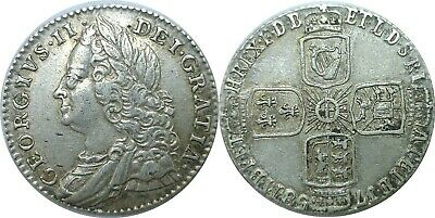 1758 Great Britain George II Silver 6 Pence KM# 582.2 Extra Fine