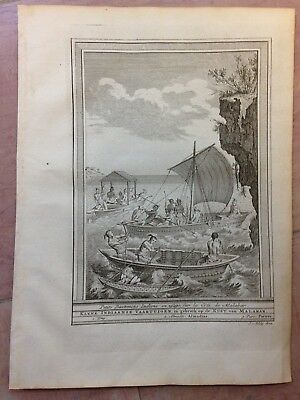 Malabar India 1749 Bellin-Van Schley Antique Copper Engraved View 18Th Century