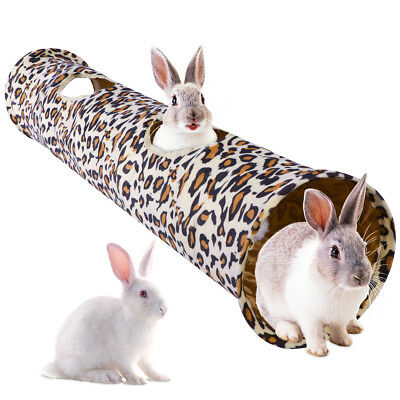 Pet Kitty Cat Play Tunnel Collapsible Crinkle Leopard Animal Rabbit Tunnel Toys