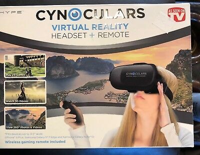 CYNOCULARS Virtual Reality Headset & Remote - As Seen On TV