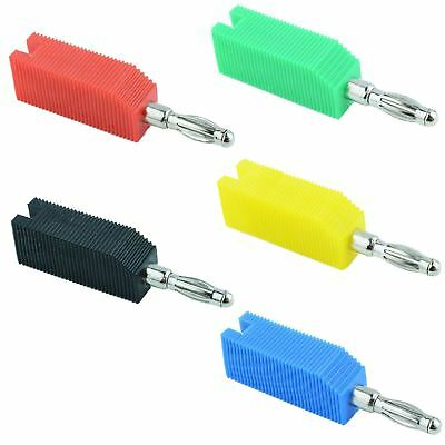 Red Black Blue Green Yellow 4mm Stackable Banana plug Test Connector
